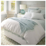 Pine Cone Hill Washed Linen Sky Quilted Sham - Lavender Fields