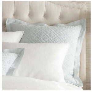 Pine Cone Hill Washed Linen Sky Quilted Sham