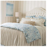Pine Cone Hill Wilton Natural Ruffle Sham - Lavender Fields