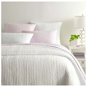 Pine Cone Hill Lana Voile White Quilt - Lavender Fields