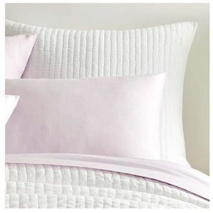 Pine Cone Hill Lana Voile White Quilted Sham - Lavender Fields