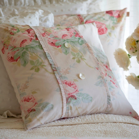 Pink Shore Rose Porch Pillow