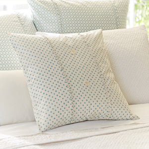 Taylor Linens Polka Dot Aqua Porch Pillow - Lavender Fields