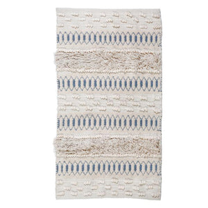 Pom Pom at Home Avery Handwoven Rug Ivory/Denim