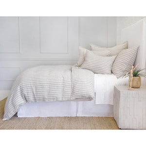 Pom Pom at Home Blake Duvet Cover Flax/Midnight - Lavender Fields