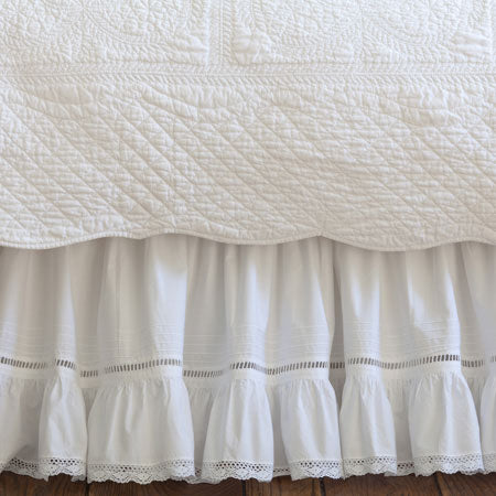 Taylor Linens Prairie Crochet Bed Skirt - Lavender Fields