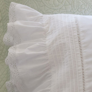 Taylor Linens Prairie Crochet Sheet Set - Lavender Fields