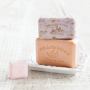 Pré de Provence Shea Enriched French Soap Bar - Peony 250g - Lavender Fields