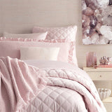 Pine Cone Hill Quilted Silken Solid Slipper Pink Coverlet - Lavender Fields