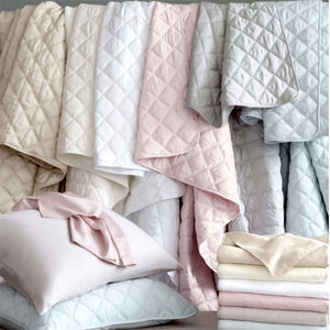 Pine Cone Hill Quilted Silken Solid White Coverlet