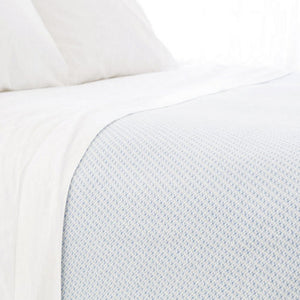 Pine Cone Hill Quinn French Blue Cotton Blanket - Lavender Fields