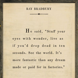 Sugarboo Designs Ray Bradbury - Book Collection Sign (Grey Wood)