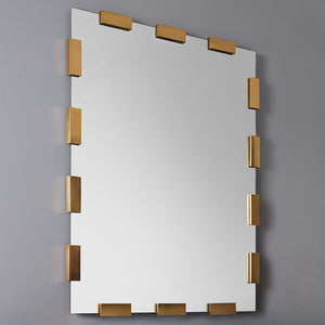 Modern History Rectangular Aplique Mirror - Lavender Fields