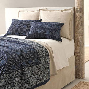 Pine Cone Hill Resist Dot Indigo Coverlet - Lavender Fields