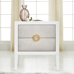 Somerset Bay Transitions Retro Shagreen Nightstand-Sea Foam Grey - Lavender Fields