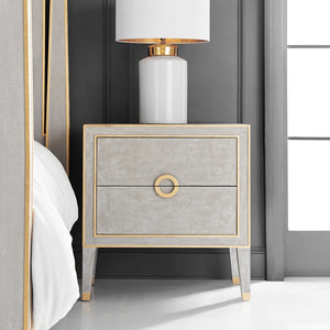 Modern History Retro Nightstand in Antique Grey