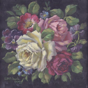 Christie Repasy Rose Rhapsody Original Canvas Print
