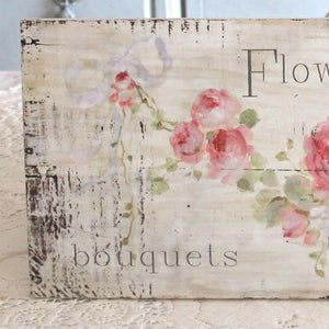 """Flower Shoppe"" Wood Print on Wood by Debi Coules - Lavender Fields"