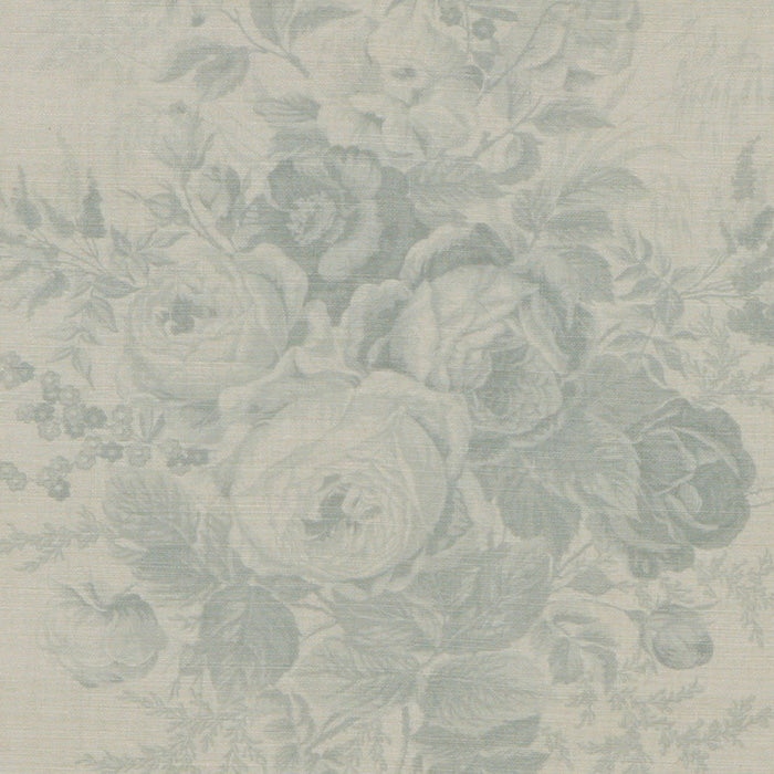 Kate Forman Roses Blue Fabric - Lavender Fields