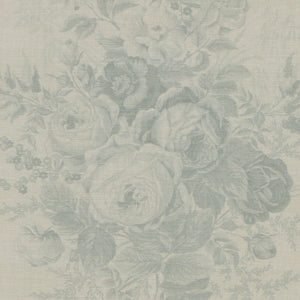 Kate Forman Roses Blue Fabric