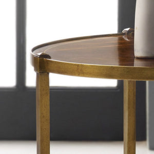 Modern History Round Inlaid Table