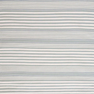 Dash and Albert Rugby Stripe Light Blue Indoor/Outdoor Rug