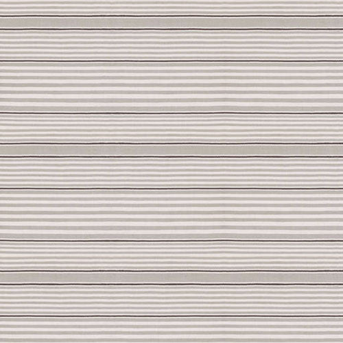 Dash and Albert Rugby Stripe Platinum Indoor/Outdoor Rug