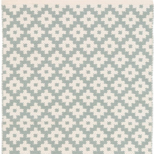 Dash and Albert Samode Light Blue/Ivory Indoor/Outdoor Rug - Lavender Fields