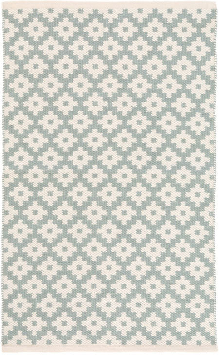 Dash and Albert Samode Light Blue/Ivory Indoor/Outdoor Rug