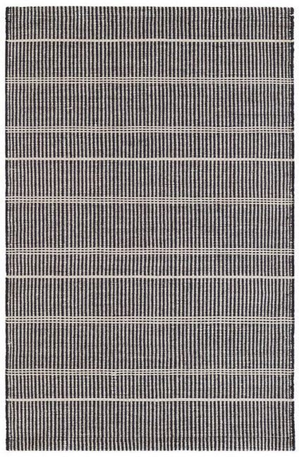 Dash and Albert Samson Black Indoor/Outdoor Rug - Lavender Fields