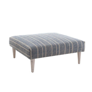 Dash and Albert Samson Navy Rug Ottoman - Lavender Fields