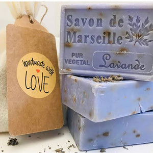 Lavender Flowers Savon de Marseille French Soap 4.37 Oz - Lavender Fields