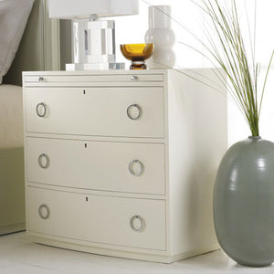 Somerset Bay Transitions Bowfront Bedside Chest - Lavender Fields
