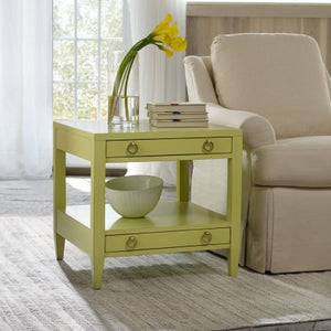 Somerset Bay Transitions Two Drawer End Table - Lavender Fields