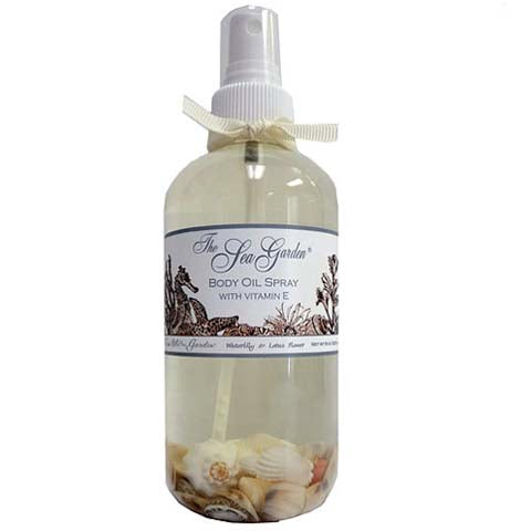The Sea Garden Body Oil with Vitamin E - Lavender Fields