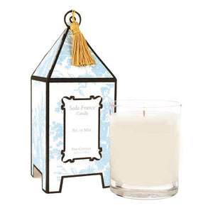 Seda France Sel de Mer Classic Toile Pagoda Box Candle - Lavender Fields
