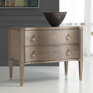 Modern History Serpentine Chest in Sycamore Grey