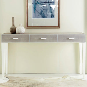 Somerset Bay Transitions Shagreen Three Drawer Console - Lavender Fields