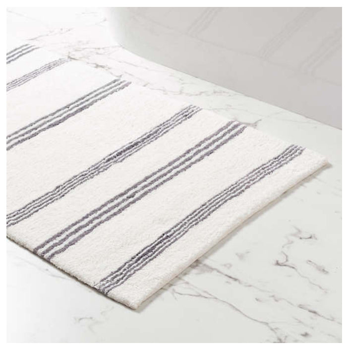 Pine Cone Hill Rowe Stripe Shale Bath Rug - Lavender Fields