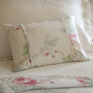 Taylor Linens Shore Rose Cream Boudoir Pillow