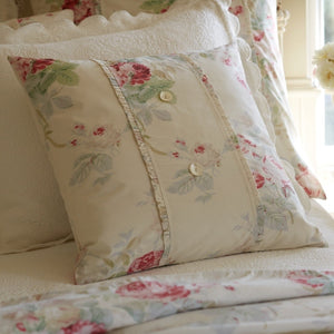 Taylor Linens Shore Rose Cream Porch Pillow - Lavender Fields
