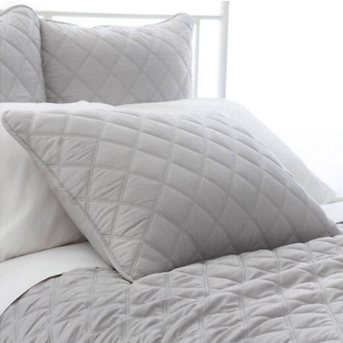 Pine Cone Hill Quilted Silken Solid Grey Sham