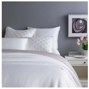 Pine Cone Hill Silken Solid White Duvet Cover - Lavender Fields