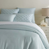 Pine Cone Hill Silken Solid Robin's Egg Blue Duvet Cover - Lavender Fields
