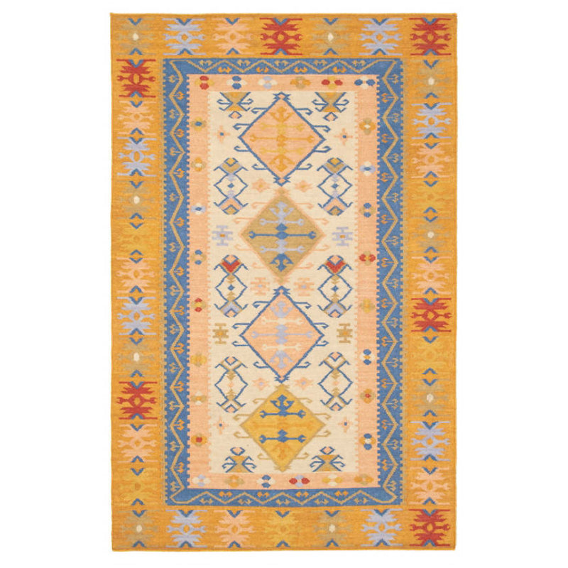 Dash and Albert Solstice Kilim Woven Wool Rug - Lavender Fields