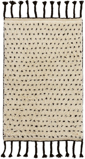 Dash and Albert Speck Black Hand Knotted Wool Rug