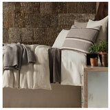 Pine Cone Hill Stone Washed Linen Natural Duvet Cover - Lavender Fields