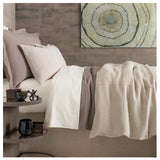 Pine Cone Hill Stone Washed Linen Natural Sham - Lavender Fields