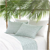 Pine Cone Hill Stone Washed Linen White Duvet Cover - Lavender Fields