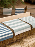 Dash and Albert Catamaran Stripe Light Blue/Ivory Indoor/Outdoor Rug